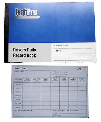 Tachpro Tachograph Drivers Daily Record Book
