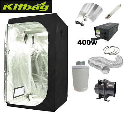 Grow tent 120 & Grow Light 400w & Extractor Fan Kit complete set up kit