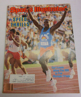 Sports Illustrated Magazine Carl Lewis Wins The 100 June 1984 070213R
