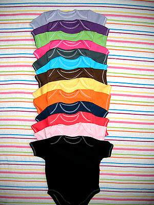 Baby FUNKY COLOURED  SHORT SLEEVED BODYSUIT VEST
