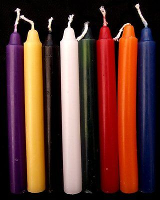 6 Spell Candles Altar/Ritual/Wicca/Pagan - Choice of Colours