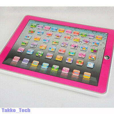 Y Pad English Learning Computer Education ABC Toy Tablet Gift for Kids Pink