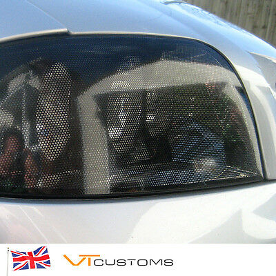 HEADLIGHT TINTING PERFORATED MESH FILM LIKE FLY-EYE MOT LEGAL TINT 30cm x 104cm