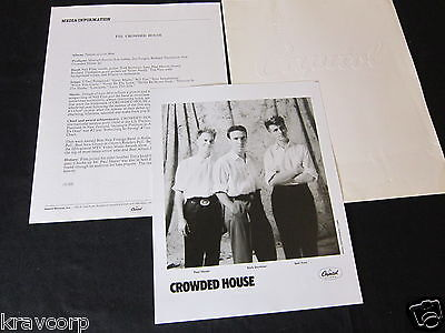 Crowded House 'Temple Of Low Men' 1988 Press Kit--Photo