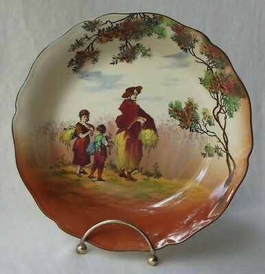 """Royal Doulton The Gleaners Old English Scenes Gypsies Seriesware Bowl 7-5/8"""" D"""