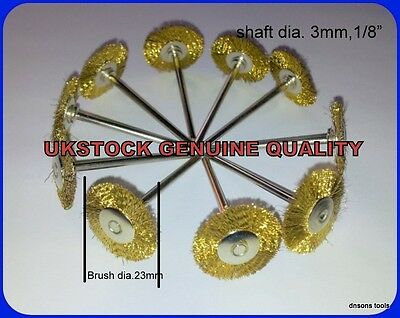 10 Pcs of Brass Wire Wheel Brushes for DREMEL & FOREDOMTOOL