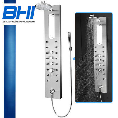 "New 51"" Rainfall style massage jets stainless steel shower tower panel BHI-7686N"