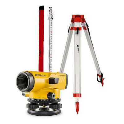 Topcon AT-B4 Automatic 24X Auto Level Surveying (60909) Tripod and ROD included