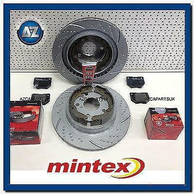 For Impreza Wrx 2.0 2.5 Turbo Rear Mintex Brake Pads Shoes Grooved Discs 290M