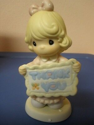 "Precious Moments 1999 ""thank You Sew Much"" Porcelain Figurine #587923~ Niob"