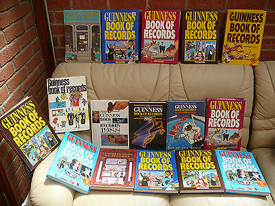 L@@K > Large Collection Of Vintage Guinness Book Of Records Books. 60S 70S 80S !