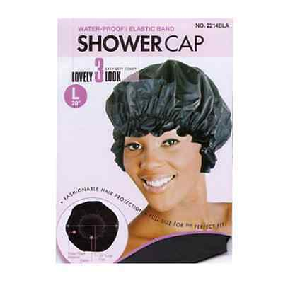 Donna/Magic Large Shower Cap. Full Size. 100 % Waterproof. 6 Colors.