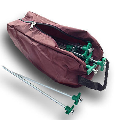 20 x Caravan awning / tent heavy duty hard standing / ground pegs + carry bag