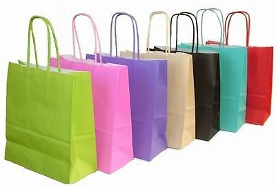 Luxury Paper Party Kraft Bags With Handles - Lots Of Colours And Pack Sizes