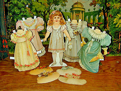 Anziehpuppe Lady Jane Luxus-Paperdoll 35 cm Edle Sammleredition Reprint 19. Jhd.