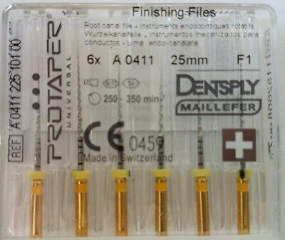 Dental Dentsply Rotary ProTaper Universal Engine NiTi Files 25 mm F1