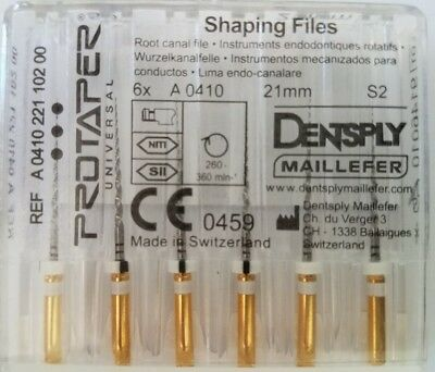Dental Dentsply Rotary ProTaper Universal Engine NiTi Files 21 mm S2