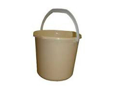 Plastic Mop Bucket Cream 9 Litre Floor Bucket With Handle