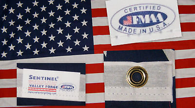 Valley Forge US American Flag 3'x5' Poly/Cotton Economy 100% Made in the USA