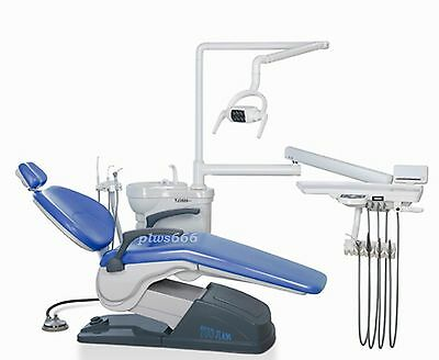Computer Controlled Dental Unit Chair hard leather A1 with stool FDA CE