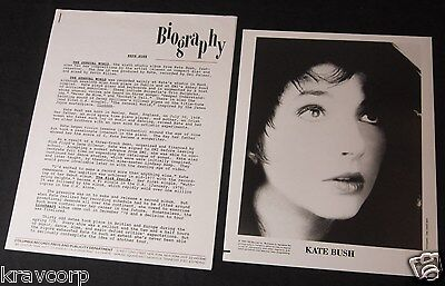 Kate Bush 'The Sensual World' 1989 Press Kit--Photo