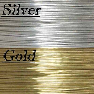 Shiny Solid Brass Jewellery Beading Wire 0.4Mm 0.6Mm 0.8Mm Rolls, Crafts, Bridal