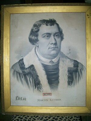 Antique Martin Luther Painting