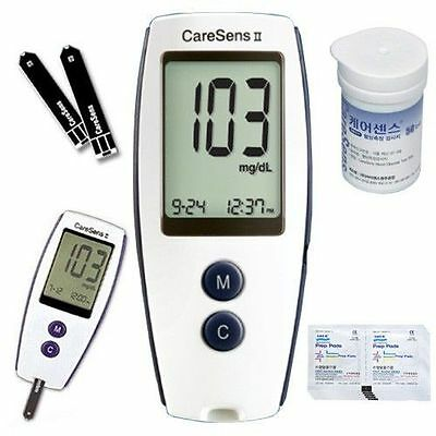 New 60 Strips Plus Blood Glucose Monitoring System Complete Kit Meter Package