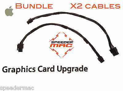  Lot of Two graphic video card power cable for Mac Pro 6/6pin PCIe PCI-Express