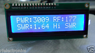 DIGITAL LCD 2x16 BLUE INDICATOR with SWR PROTECTION for 3Kw POWER SWR METER
