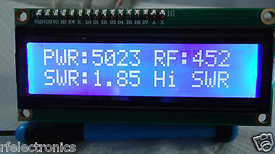DIGITAL LCD 2x16 BLUE INDICATOR with SWR PROTECTION for 5Kw POWER SWR METER