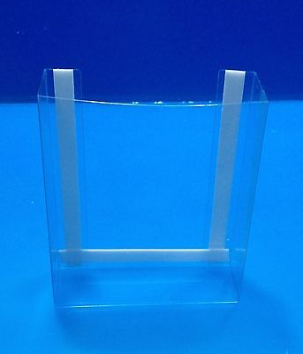 NEW! 100 Clear tri fold brochure holders. These will mount to any flat surface!
