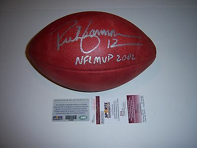 Rich Gannon Oakland Raiders Nfl Mvp 2002 Jsa/coa Signed Official Game Football