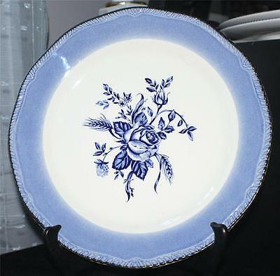 """Vintage ENOCH WOOD & SONS England BLUE COLONIAL ROSE 10 3/4"""" Dinner Plate"""