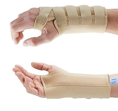 Beige Wrist Support Brace - Carpal Tunnel Hand Splint - RSI Sprain Pain -NHS Use