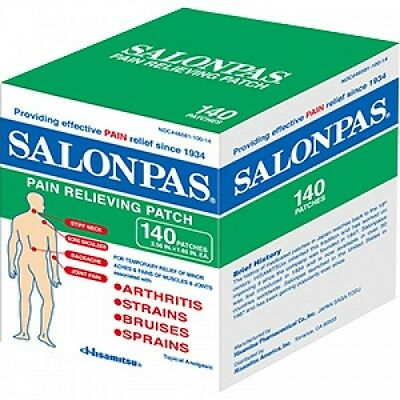 Salonpas 140 Pain Relieving Patches NEW Improved Formula
