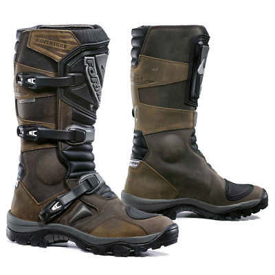 Forma Adventure motorcycle boots, mens, brown, black, all sizes, waterproof, adv