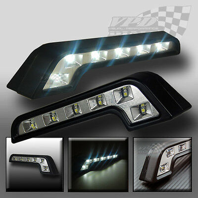 lights 2x car daytime Running DRL universal led white day light head lamp 8 led
