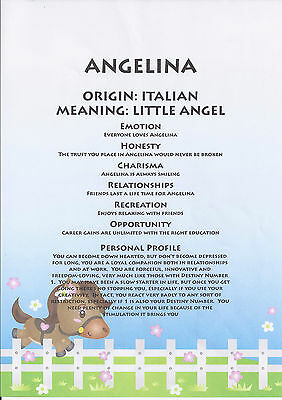 NAME MEANING CERTIFICATE, Great gifts, Personalized, Laminted, We have your name