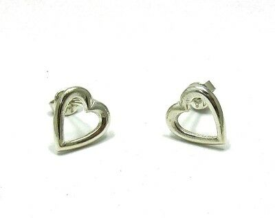 Sterling Silver Earrings Solid 925 Small Hearts New E000472 Empress