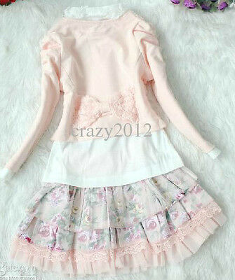 Girls 3 piece pink Party white Tutu Dress skirt jacket party wedding outfit NEW