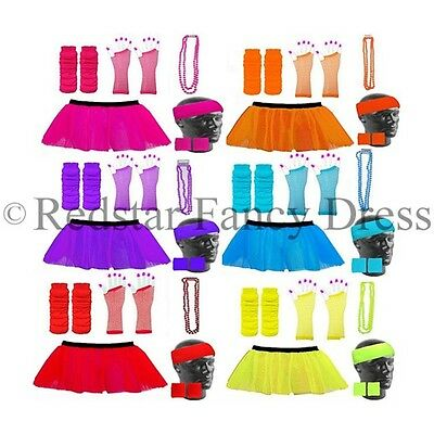 Neon Tutu Skirt Fancy Dress & Accessories Hen Party Uv Rave Race For Life
