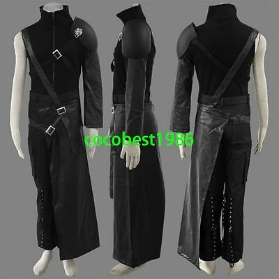 Final Fantasy Vii Cloud Strife Men's cosplay costume New Top leather skirt pants