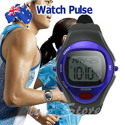 OZ Calorie Counter Pulse Heart Rate Monitor Watch Fitness Sports Exercise Blue