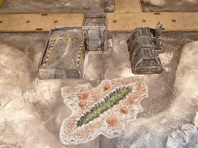 Warhammer 40k terrain scenic elements factory landing station set Imperial Guard