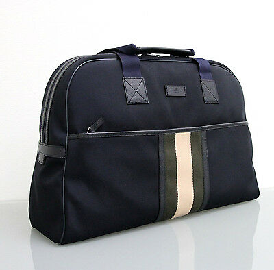NEW Authentic GUCCI Duffle Bag, Travel Bag, w/Web Detail, Navy, 282511 4188