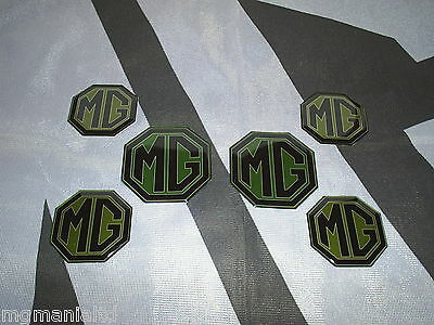MGF MG F  2x Front /& Rear 4x Centre Caps Pearlesent Blue Badge Inserts New