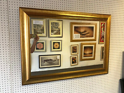 New Large Modern Gold Wall And Overmantle Mirror - Various Sizes Available