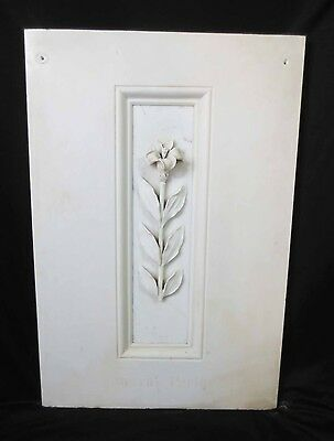Antique Architectural Religious Carved Italian Marble Altar PANEL Flower Lily