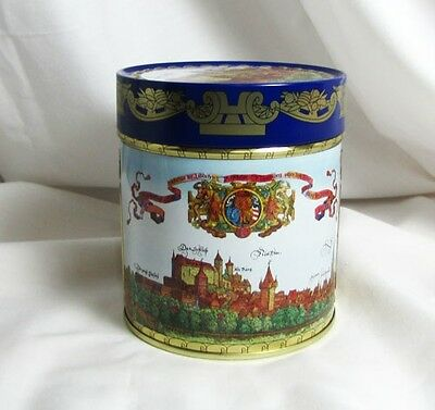 Vintage German Round Tin Lithographed Old Nueremberg